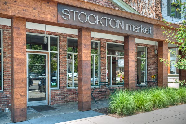 Front of Stockton Market