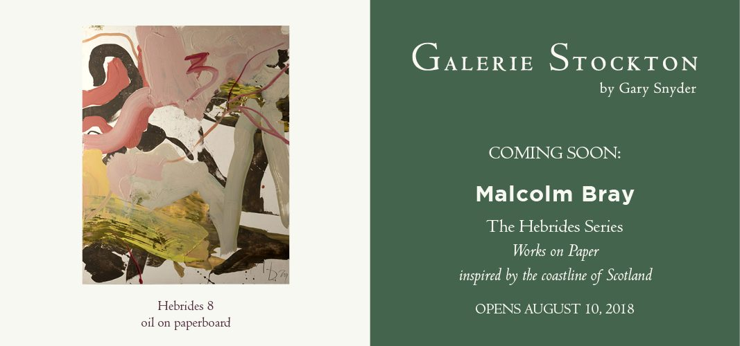 Malcolm Bray Exhibition Coming Soon