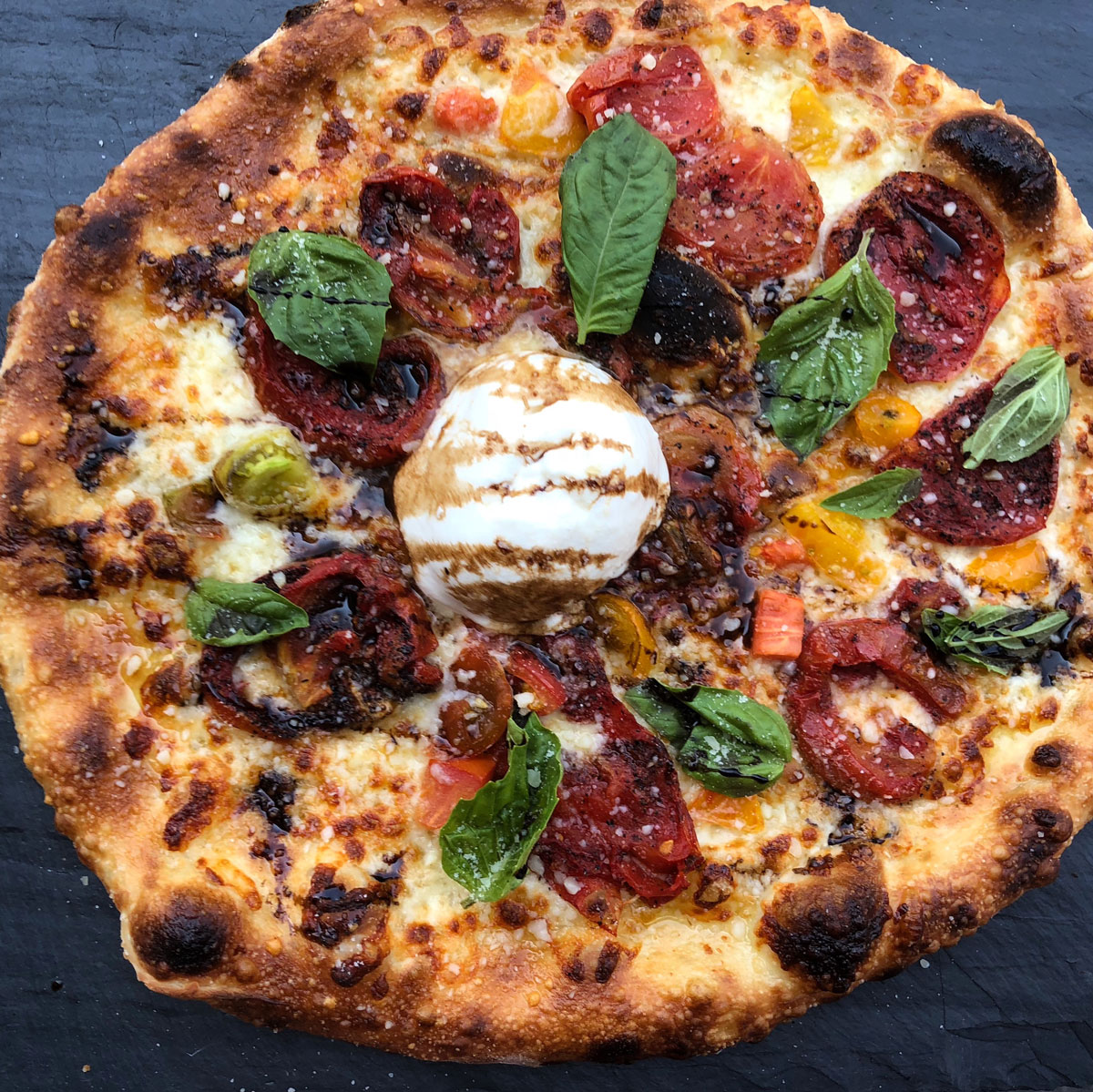 Heirloom Tomato Pizza With Burrata