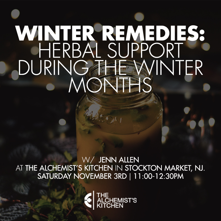 WORKSHOP: Winter Remedies – Herbal Support During The Winter Months With Jenn Allen