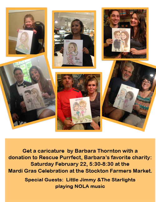 Come Get Your Caricature Done At Our Mardi Gras Celebration!